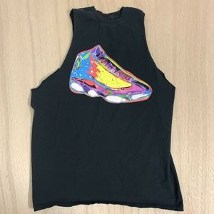 Nike Jordan Cut Off Sleeves T-shirt Tee Top Mens L